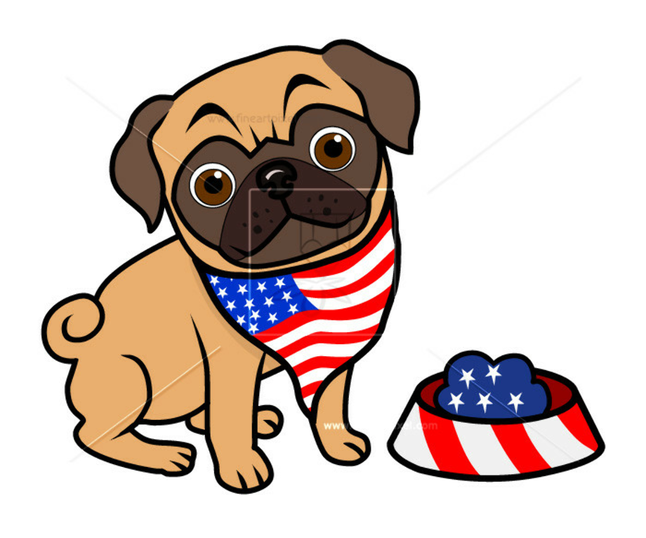 4th of july clipart dog