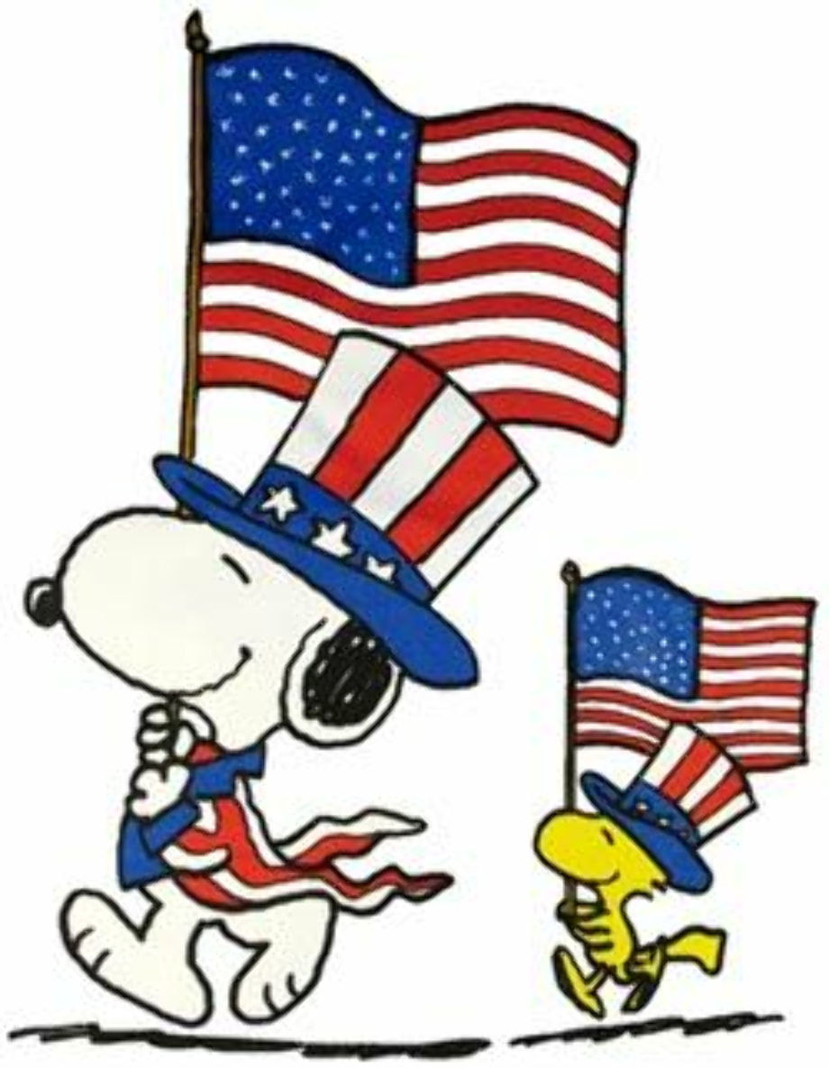 4th of july clipart snoopy