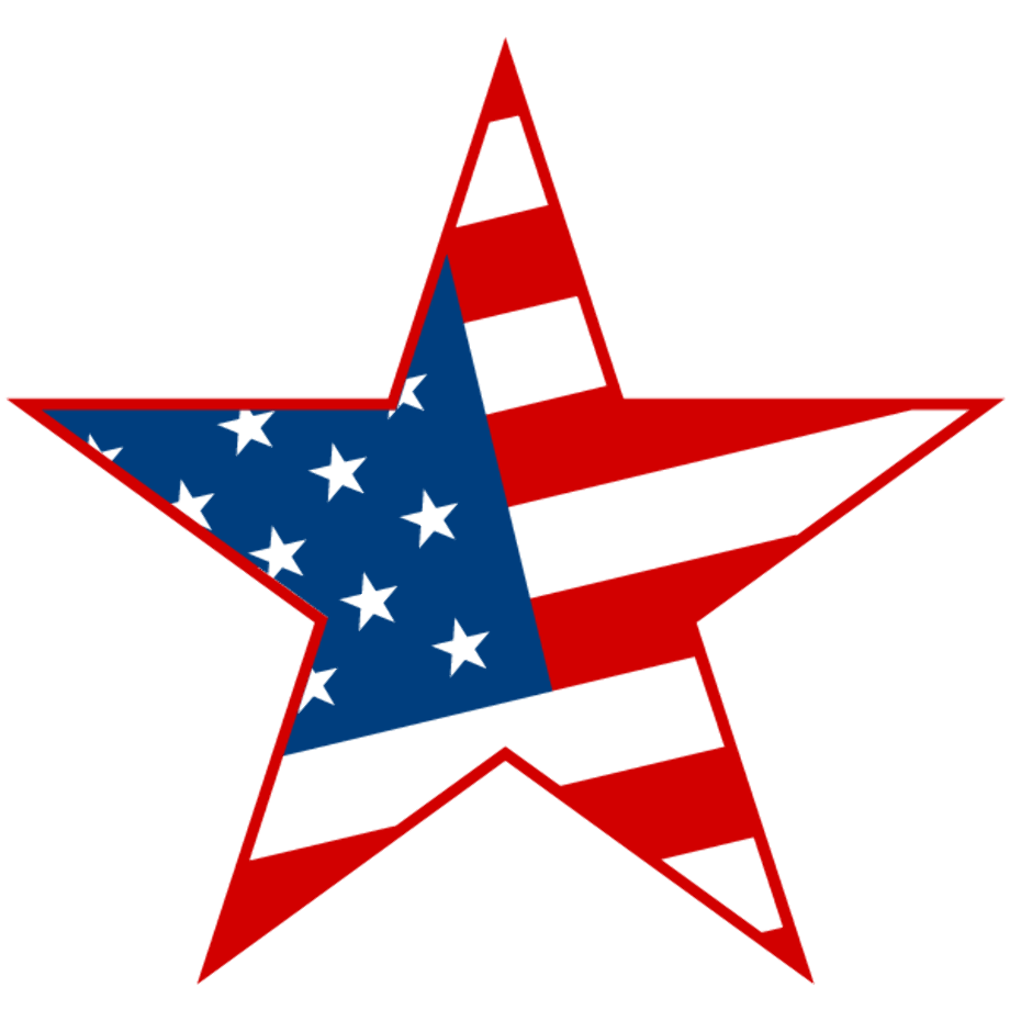 4th of july clipart flag