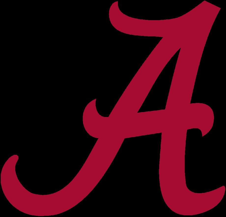 Alabama football logo black