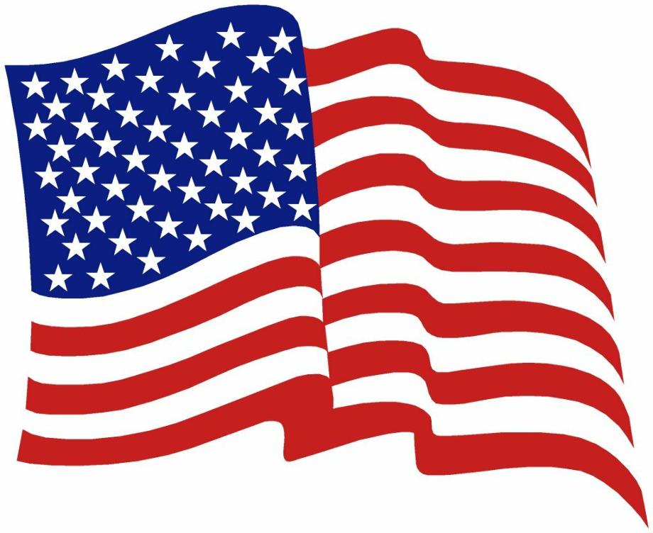 american flag clipart waving