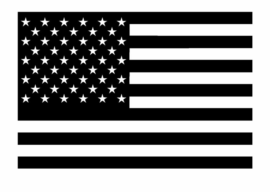american flag clipart black