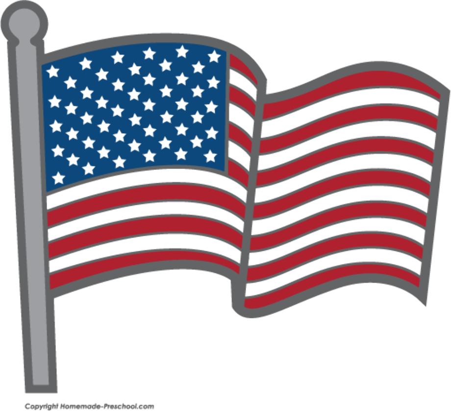 american flag clipart cartoon