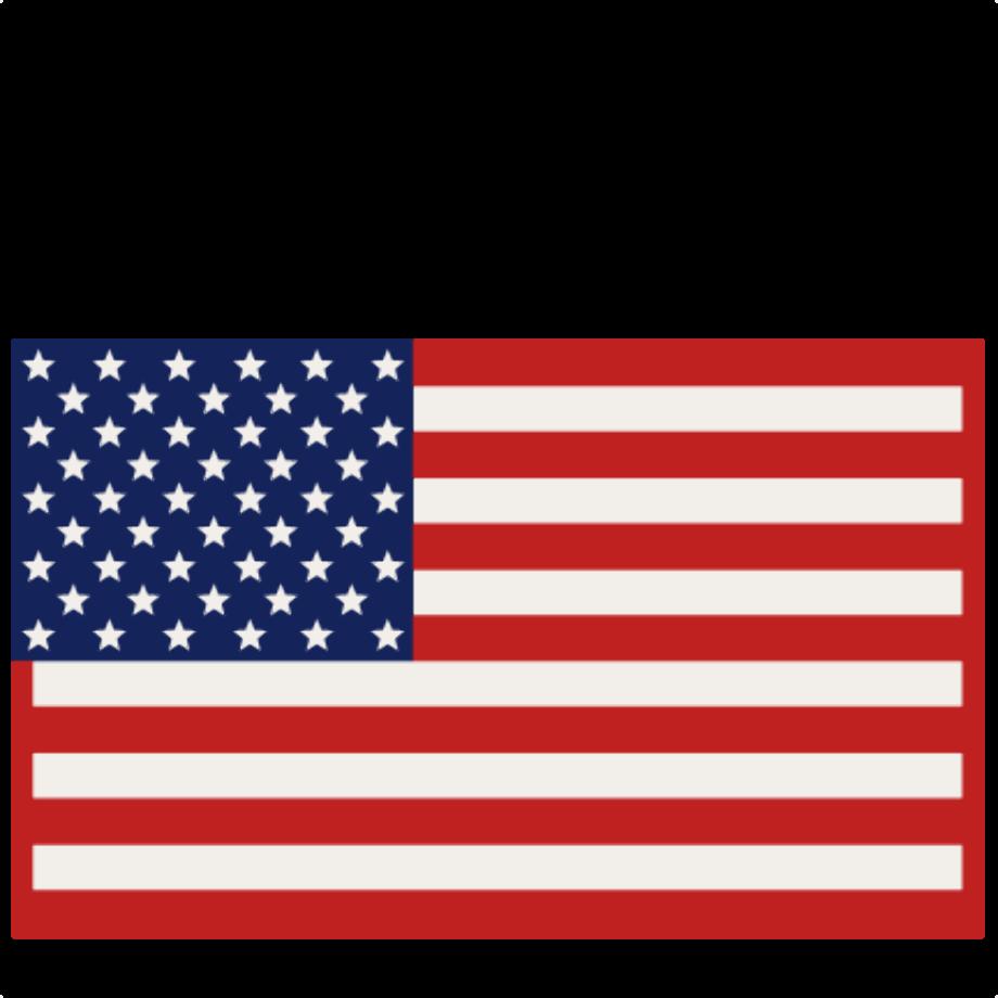 american flag clipart silhouette