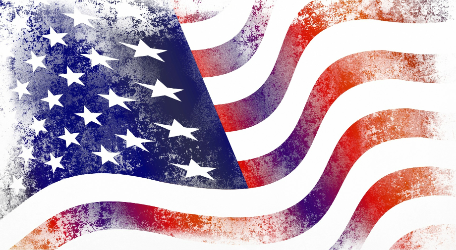 american flag clipart grunge