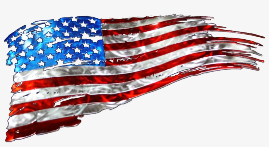 american flag clipart tattered