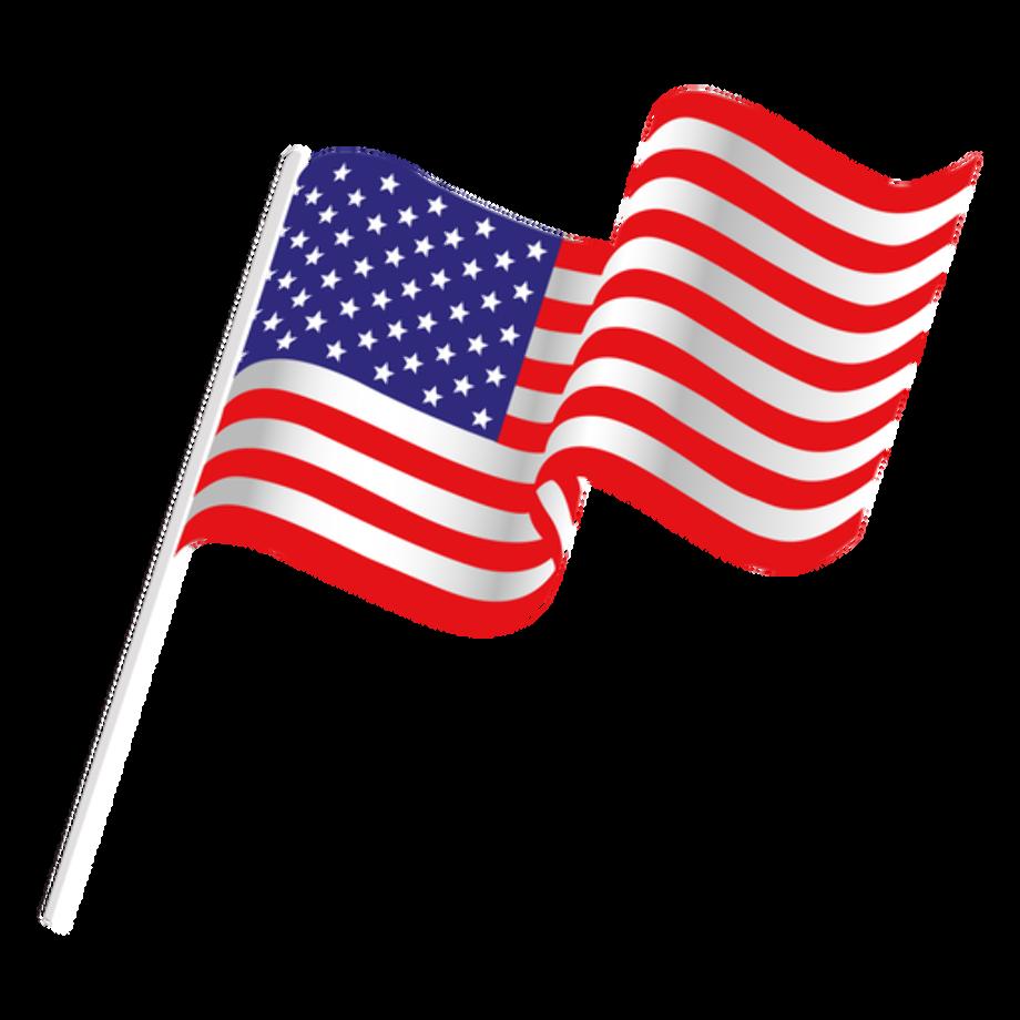 american flag clipart transparent