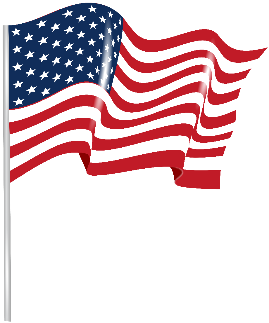 Download High Quality american flag transparent waving ...