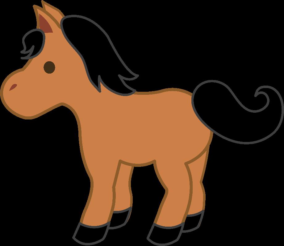 horse clipart cute
