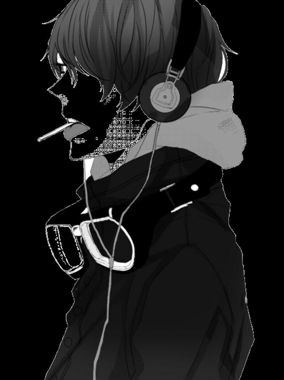 Anime transparent monochrome