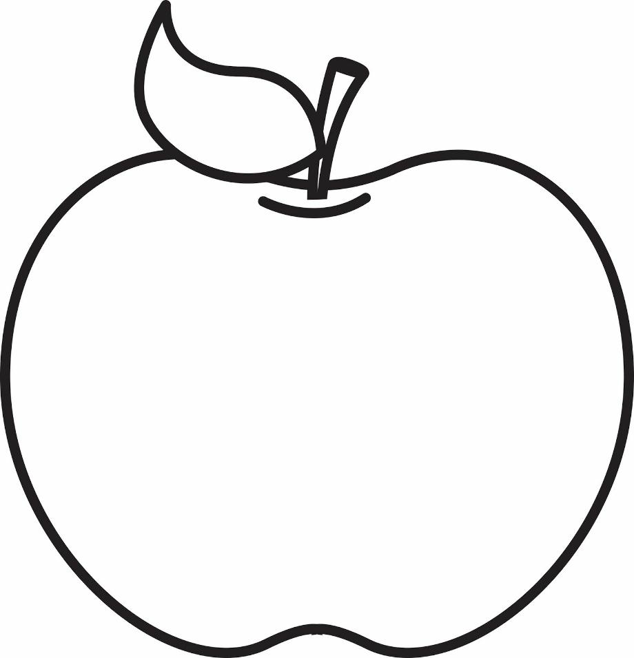 Apple black and white outline