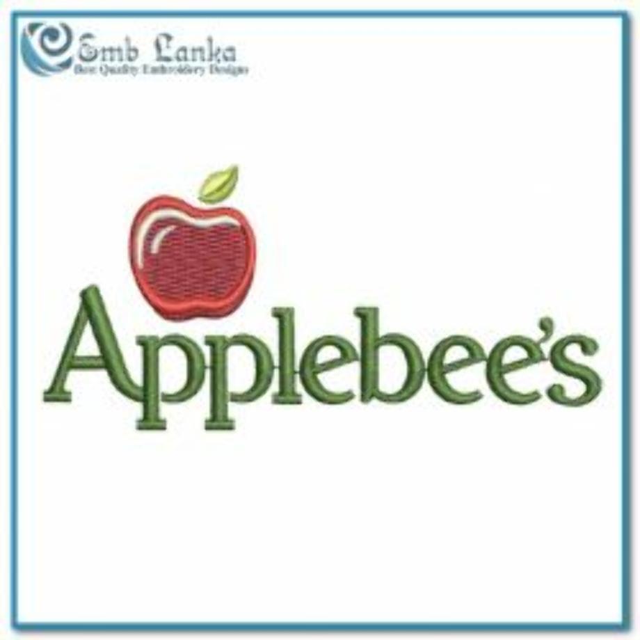 Applebees logo embroidery