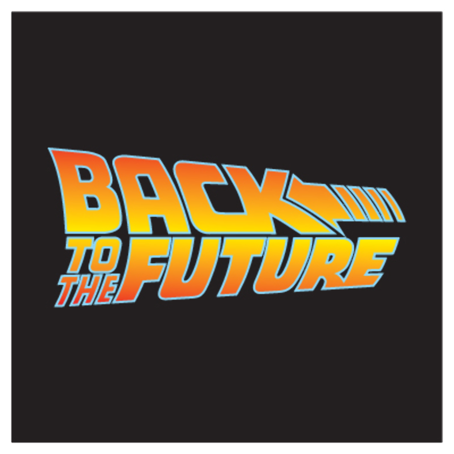 Back to the future logo poster