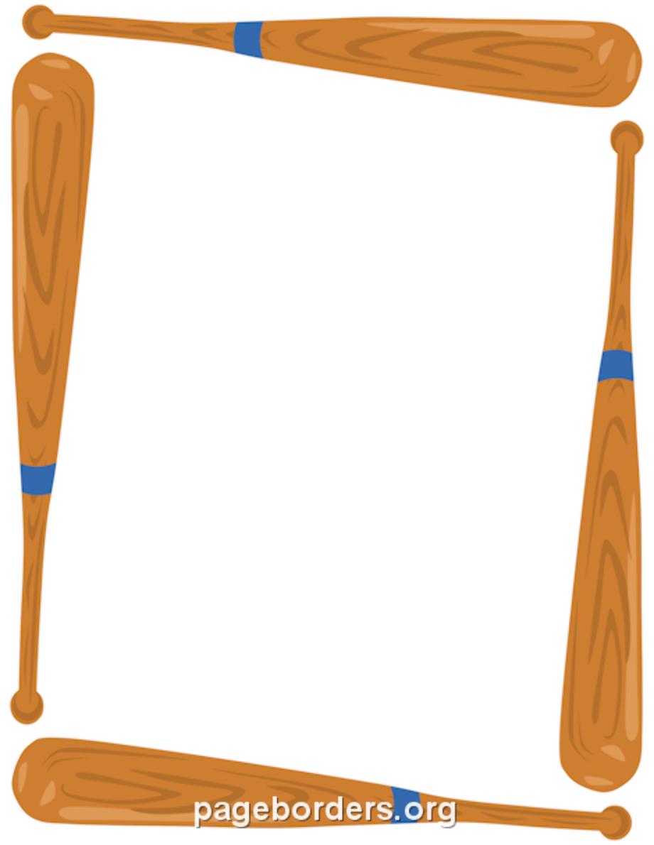 baseball clip art border