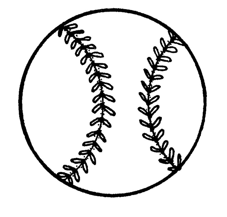baseball clip art white