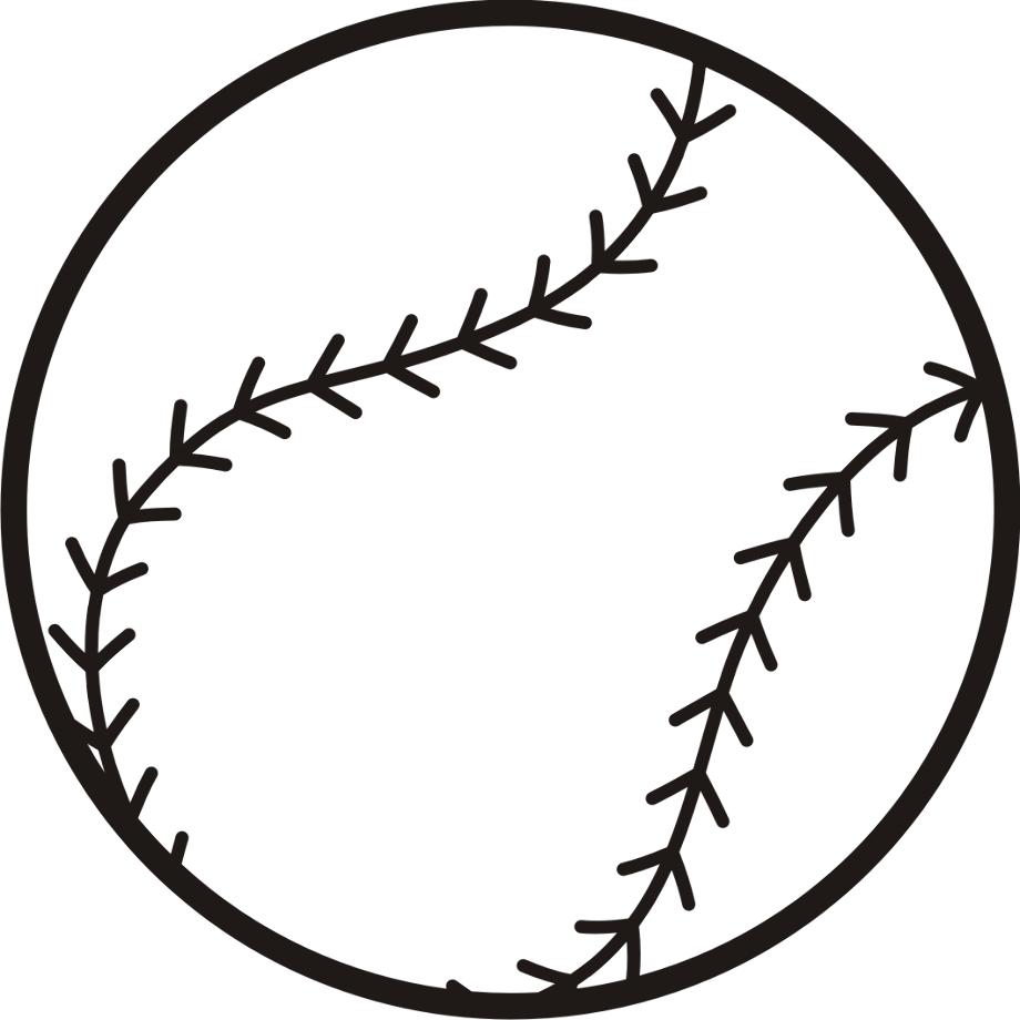 baseball clip art outline
