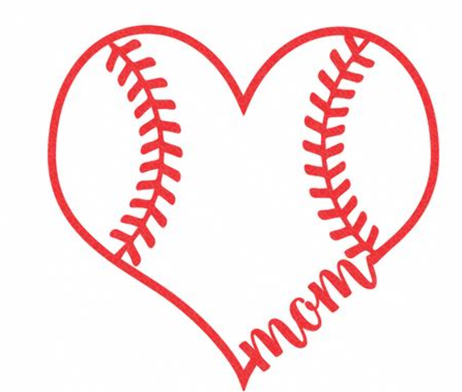 baseball clip art heart