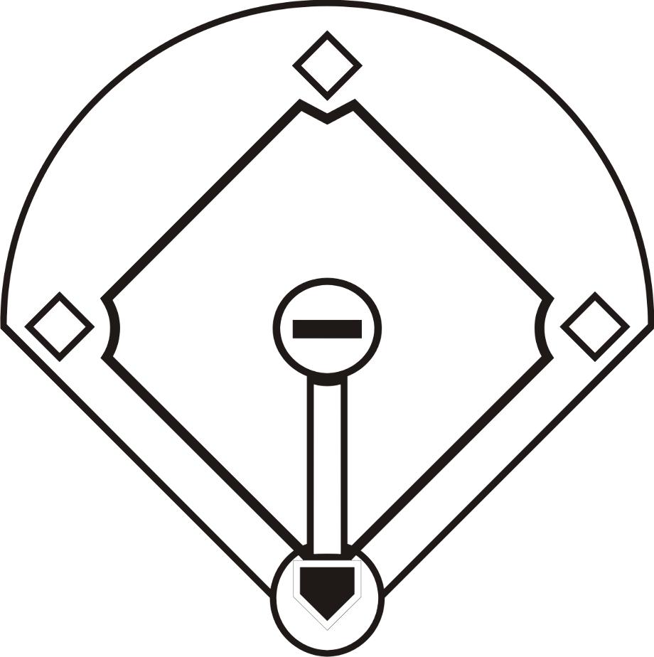 Baseball diamond clipart clip art free