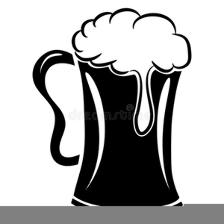 beer clipart black