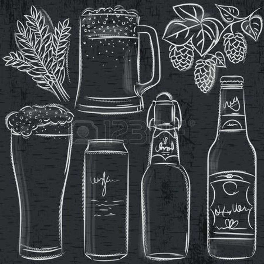 beer clipart chalkboard