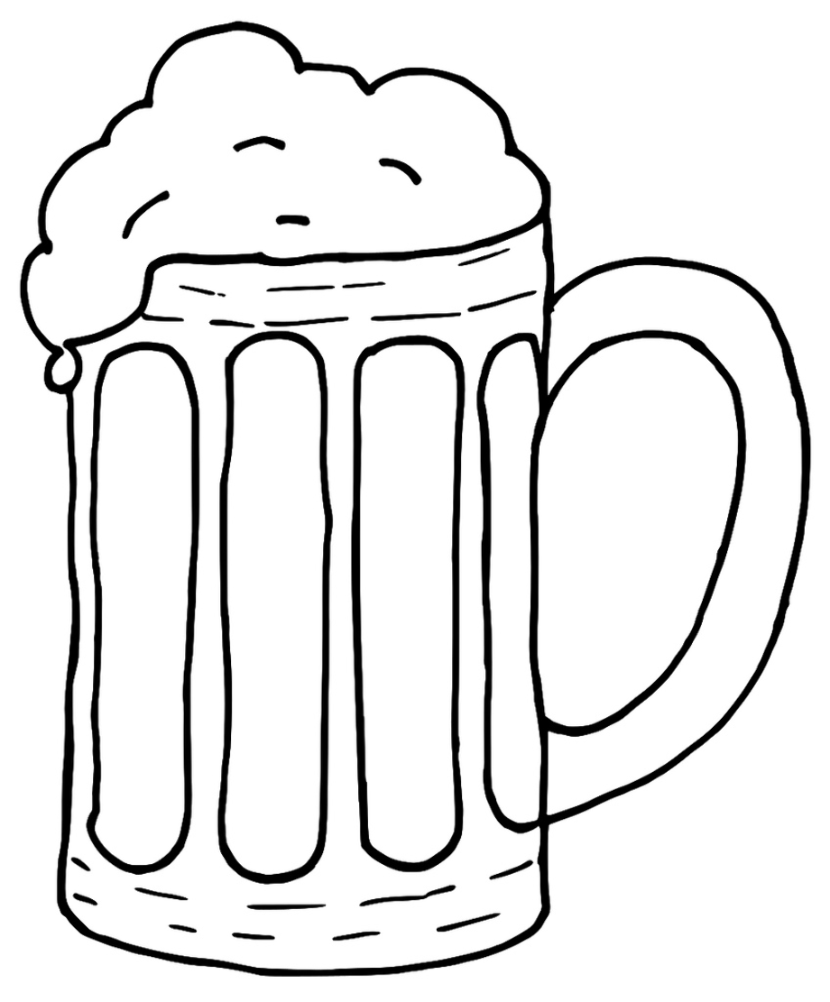 beer clipart outline