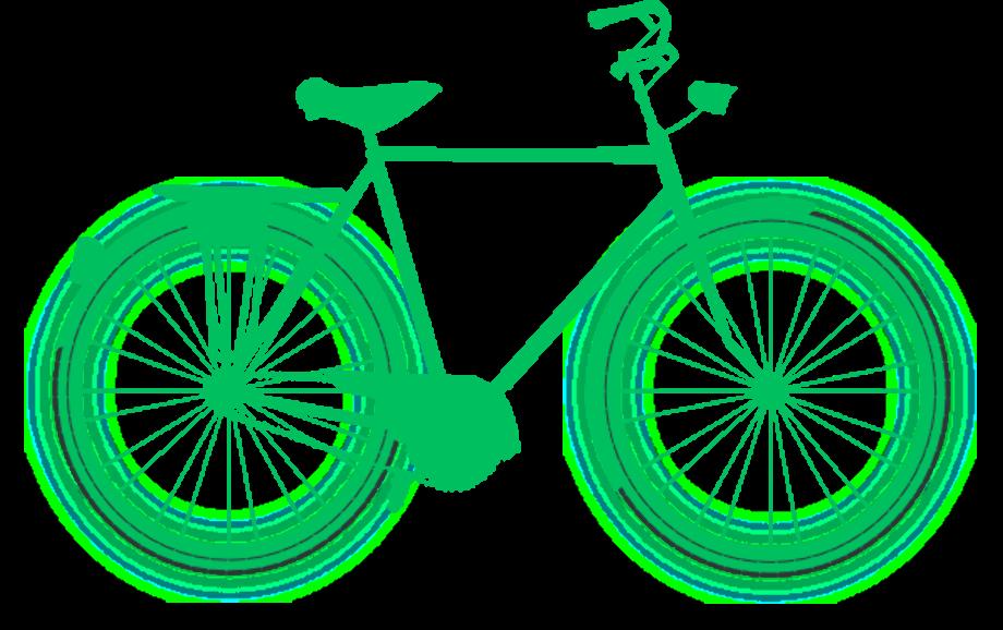 bike clipart green