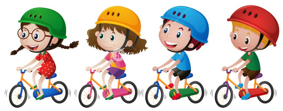 bike clipart kid