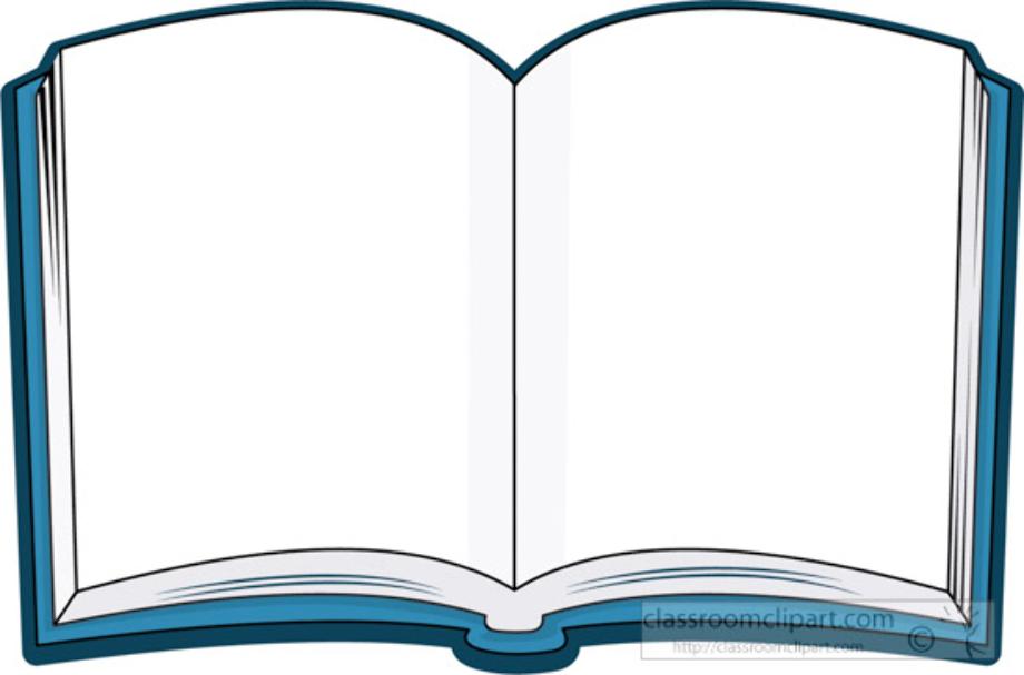 book clipart blue