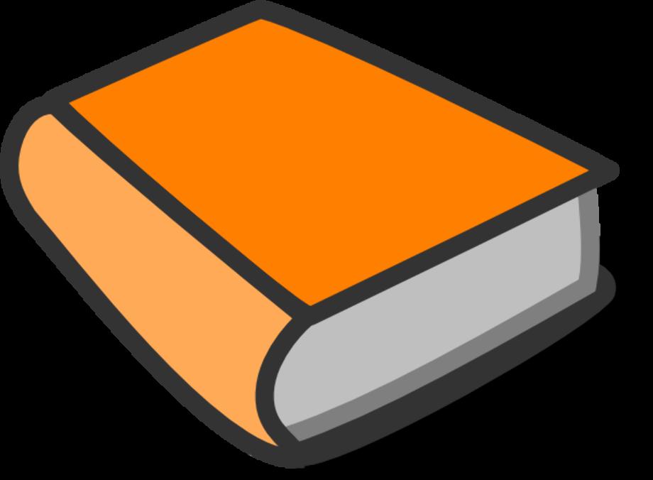 book clipart orange