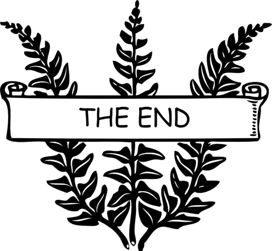 book clipart the end