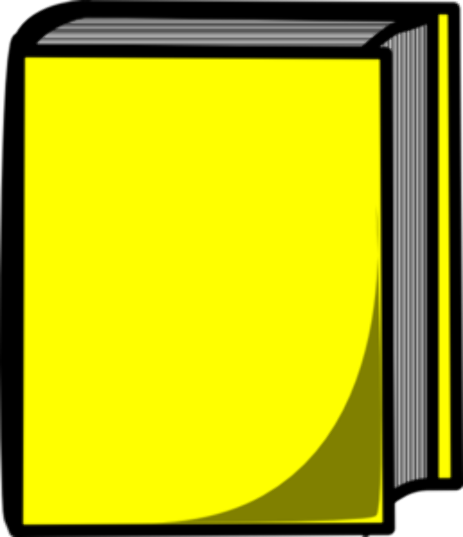 book clipart yellow