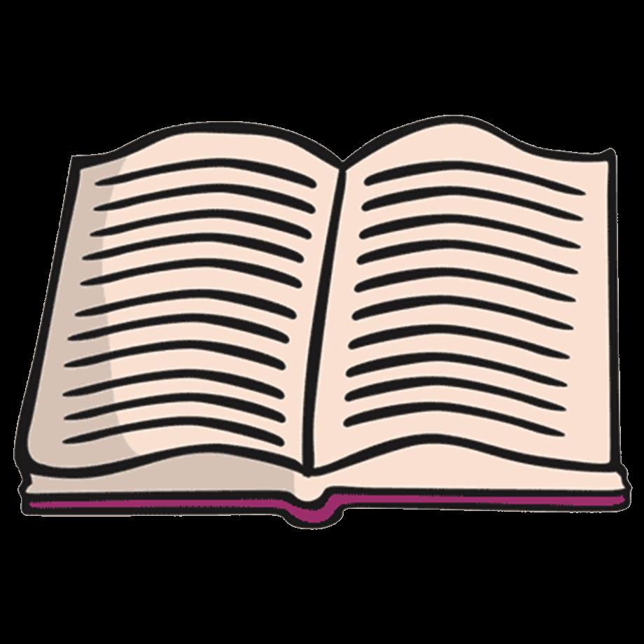 book clipart open