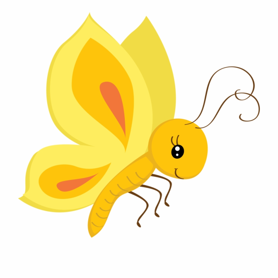 butterfly clipart yellow