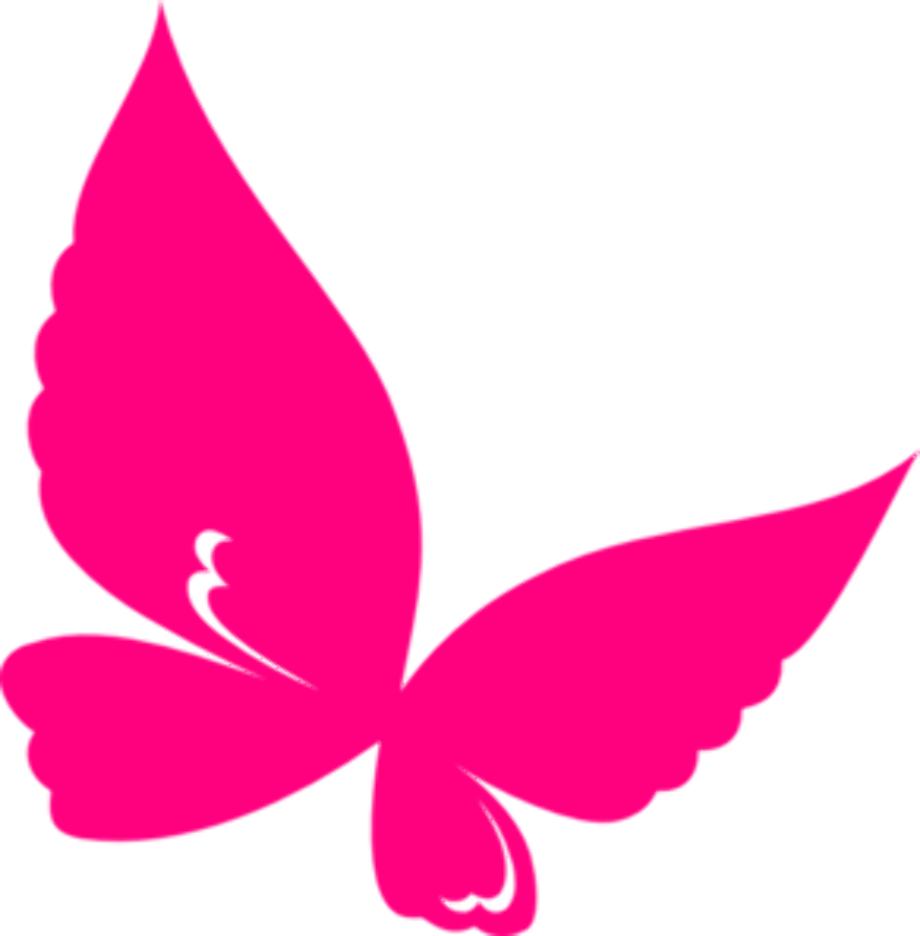 butterfly clipart pink