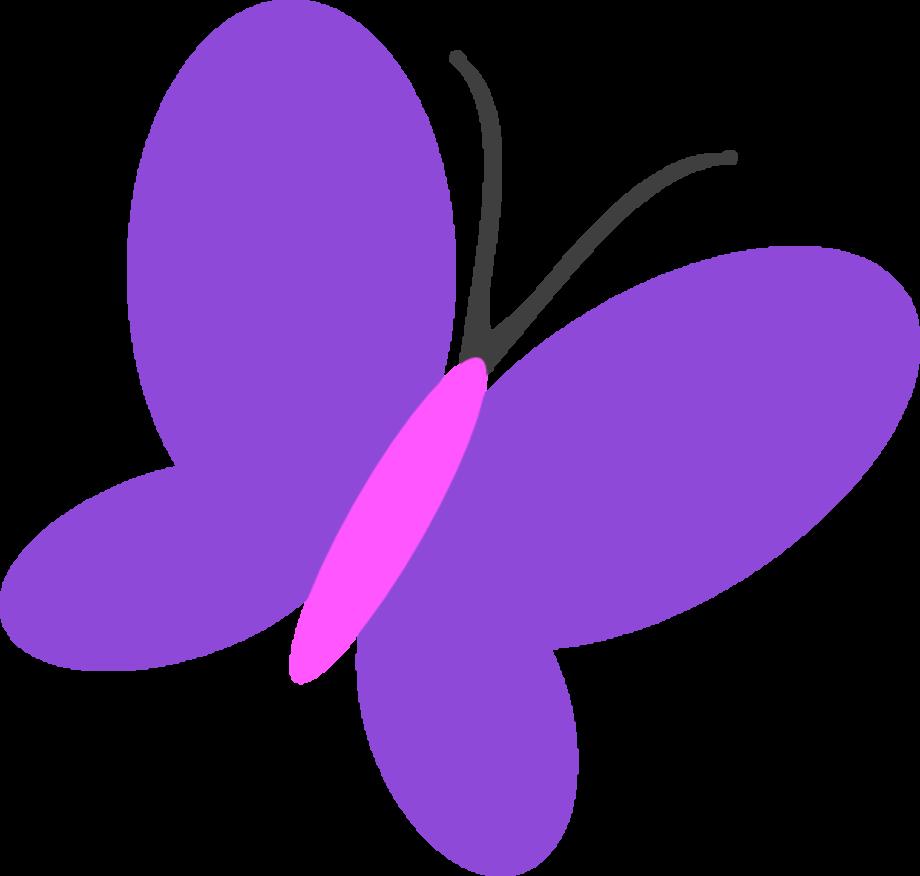 butterfly clipart purple