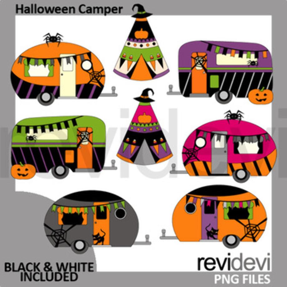 camping clip art camper