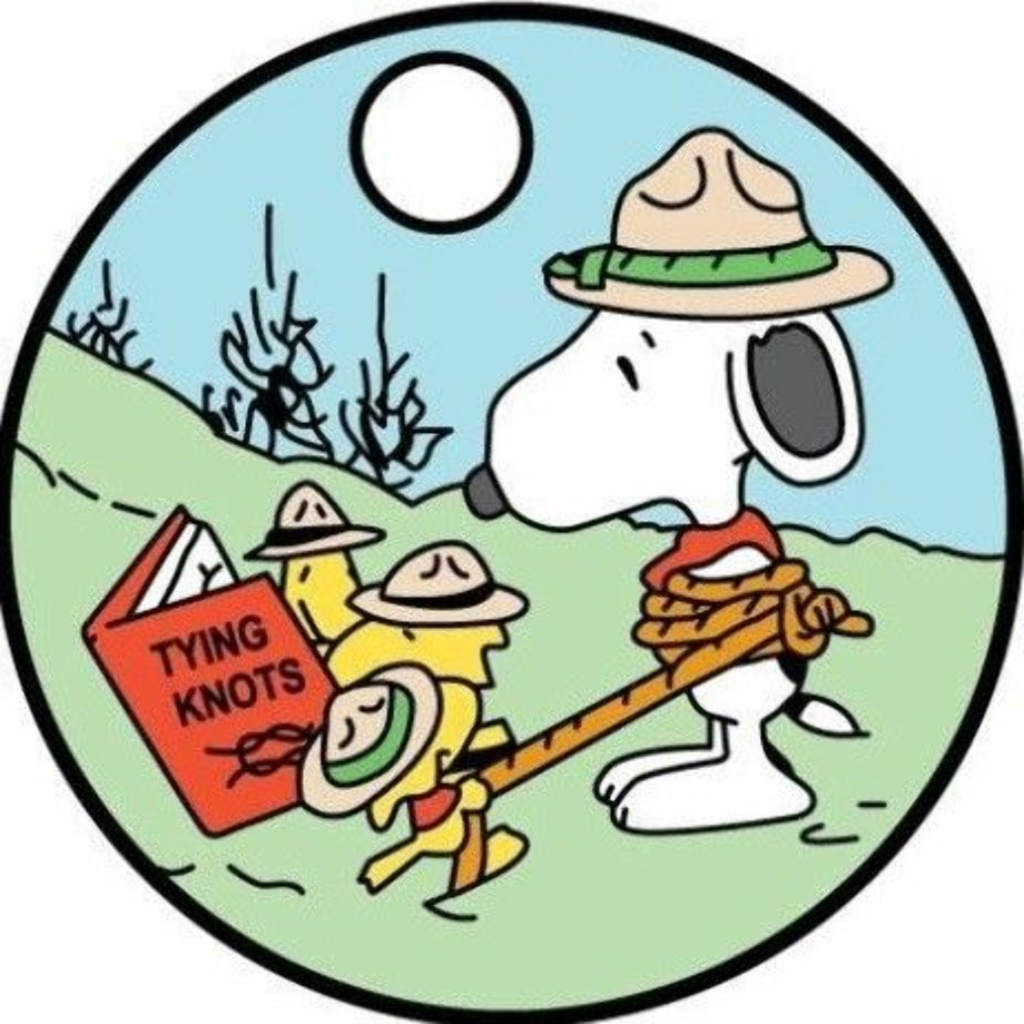 camping clip art snoopy