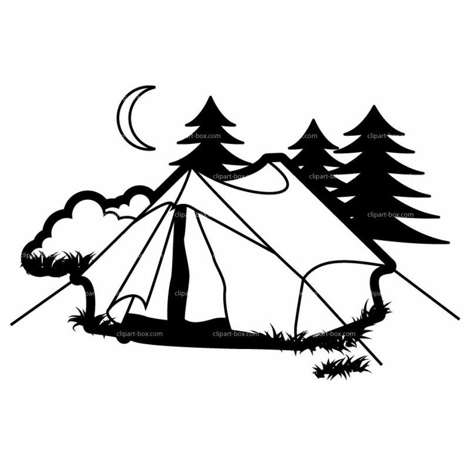 camping clip art vector