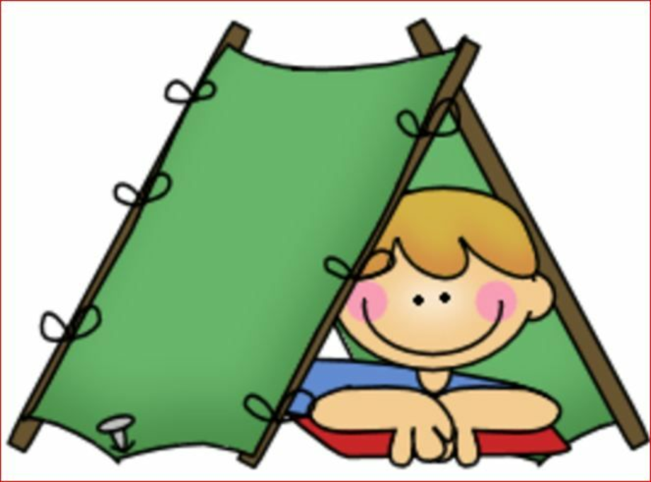 camping clipart boy