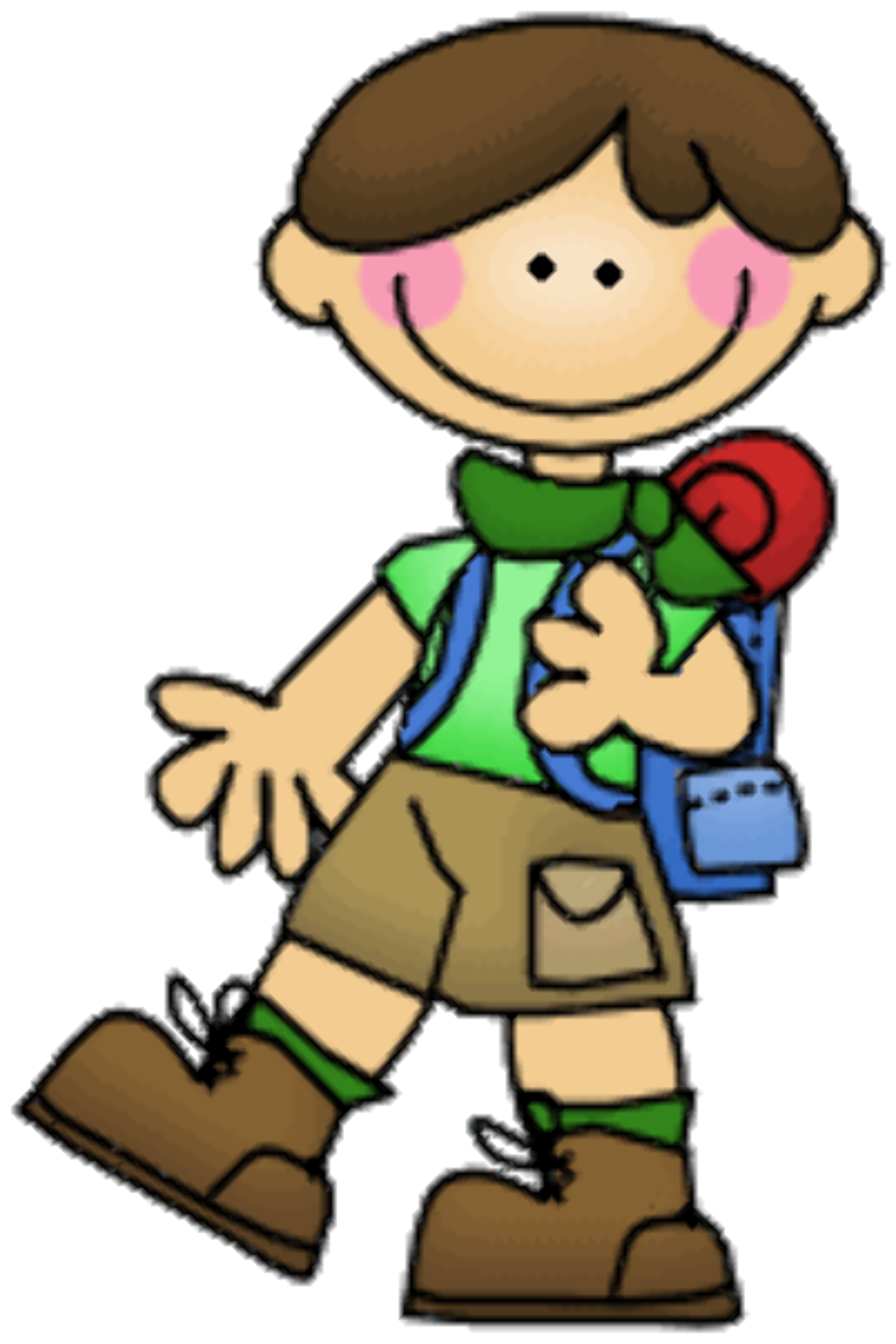 camping clipart kid