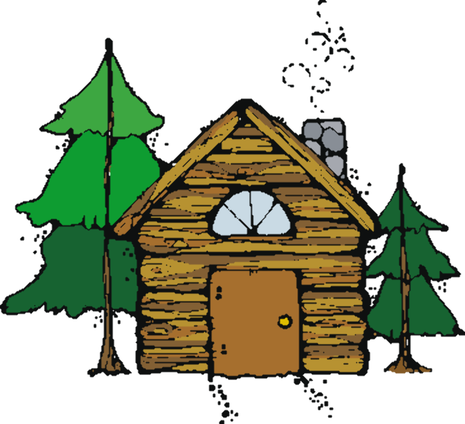 camping clipart cabin