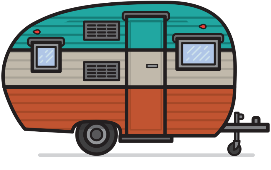 camping clipart camper