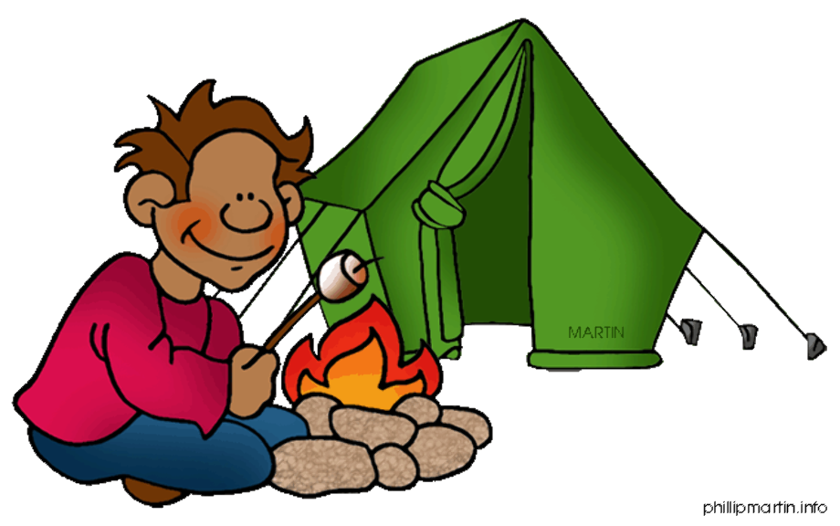 camping clip art cartoon