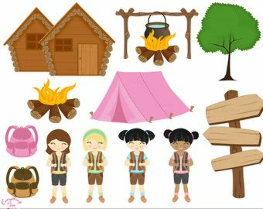 camping clip art scout