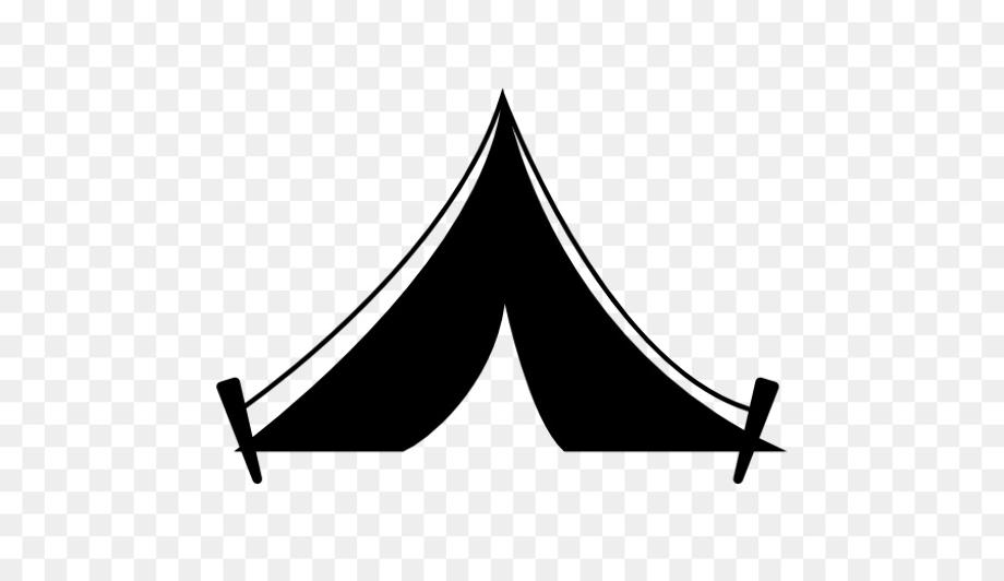 camping clip art silhouette