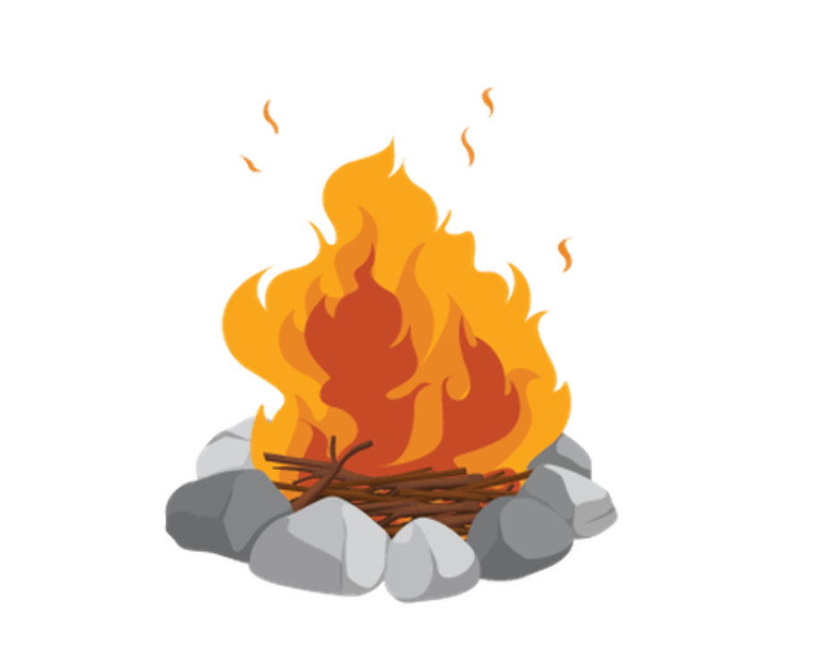 camping clipart campfire