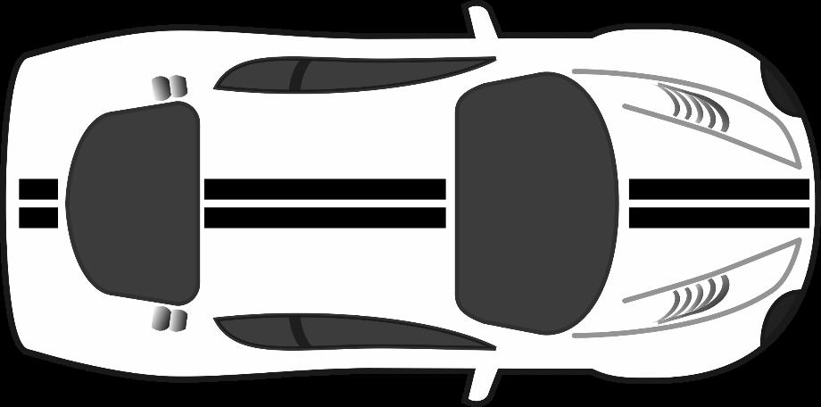 Car clipart top view