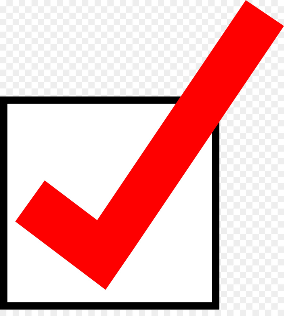 check mark clipart red