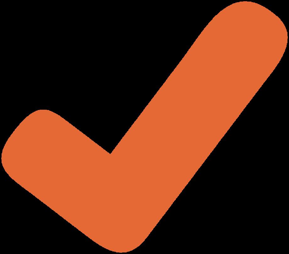 check mark clipart orange
