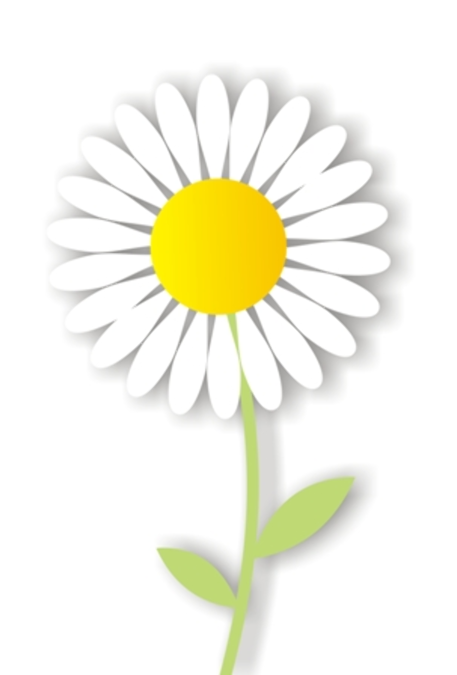 Download High Quality daisy clipart light yellow ... (920 x 1360 Pixel)